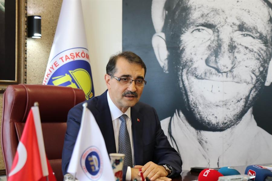 Resim Enerji ve Tabii Kaynaklar Bakanı Fatih Dönmez'den Yerli Kömür Açıklaması
