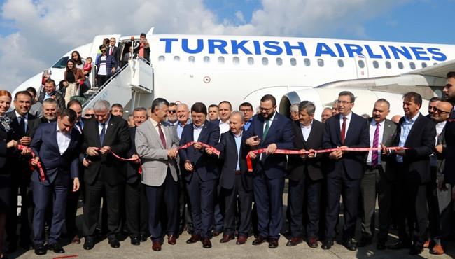 Resim THY Zonguldak'a İlk Yurt İçi Seferini Gerçekleştirdi