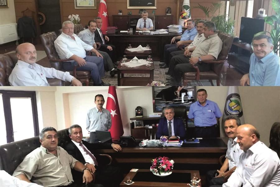Resim Çaycuma Muhtarlar Derneği'nden Erdoğan Bektaş'a ve Recep Demirtaş'a Ziyaret