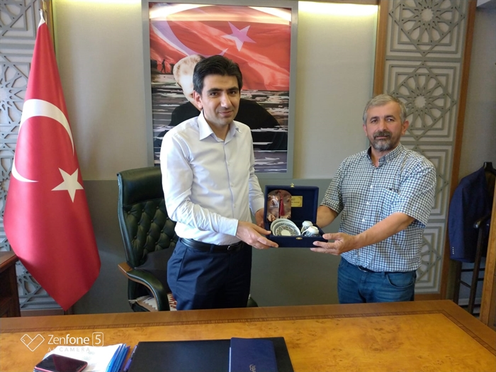 Resim Emlakçılar Derneği Başkanı Ünlü'den Kaymakam Coşgun'a Ziyaret