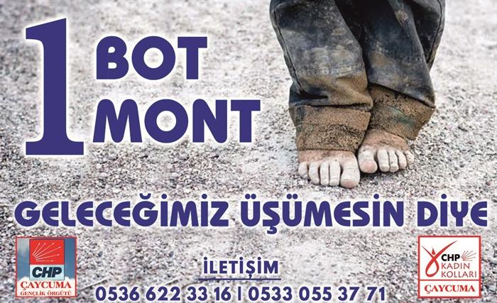 """Resim """"Küçük Yürekleri """"Bir Mont Bir Bot"""" Kampanyasıyla Isıtacağız"""""""